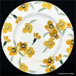 Emma Bridgewater sale. Yellow Wallflower 8½ Plate