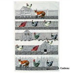 Emma Bridgewater. Servies, Hen & Toast Tea Towel Hen Run