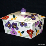 emma bridgewater. small  butterdish wallflower