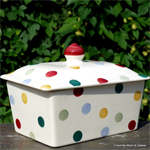 emma bridgewater. Servies. Small Butterdish Polka Dot