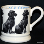 Emma Bridgewater. Servies, Black Cocker ½ Pint Mug