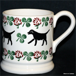 Emma Bridgewater sale. Servies, Labrador & Clover ½ Pint Mug