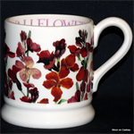 Emma Bridgewater servies, Red Wallflowers  ½ Pint Mug