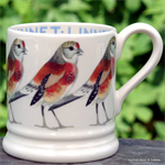 Emma Bridgewater aale.  Servies, Linnet ½ Pint Mug