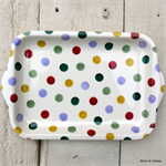 Emma Bridgewater Melamine, Small Tray Polka Dot
