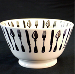 emma bridgewater sale. forks & knives old bowl