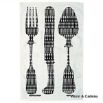 Emma Bridgewater. Tea towel Knives Forks
