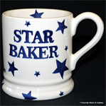 Emma Bridgewater Servies sale. Starry Skies Star Baker ½ Pint Mug 2017