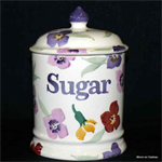 Emma Bridgewater. 1 pint storage jar SUGAR wallflower