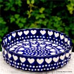 bunzlau castle. pie dish with ribbed edges Blue Valentine 1909-0375E