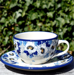 Bunzlau Castle teacup and saucer Lady