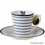 Laura Ashley servies, espresso kop en schotel 178692 candy