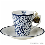 Laura Ashley servies, espresso kop en schotel 178693 floris