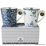 Laura Ashley servies, set van 2 bekers Alyssa en Rose