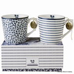 Laura Ashley servies, set van 2 bekers Floris en Candy