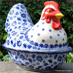 Bunzlau Castle kip. chicken shaped baking dish