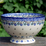 Bunzlau Castle. Bowl on Foot royal blue 1206-1982