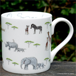 sophie allport. mug on safari