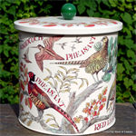 emma bridgewater. game birds biscuit barrel