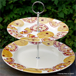 Emma Bridgewater. Holly Wreath 2 Tier Cake Stand