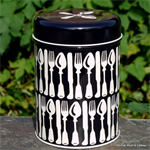 emma bridgewater. tin caddy Knives & Forks