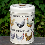 emma bridgewater. tin caddy Hen & Toast