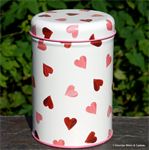 emma bridgewater. tin caddy Pink Hearts