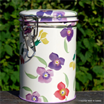 emma bridgewater. Wallflower clip lid caddy