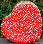 emma bridgewater. Red Heartshaped tin