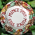 Emma Bridgewater Holly Wreath, Mince Pies 8½ plate
