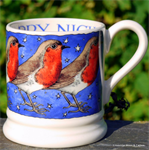 Emma Bridgewater sale. ½ pint mug Robin in a Starry Night