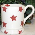 emma bridgewater sale. Red Star ½ pint mug