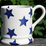 Emma Bridgewater. ½ pint mug Blue Star