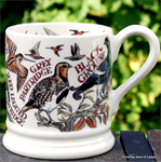 Emma Bridgewater Game Birds ½ pint mug,