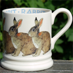 Emma Bridgewater. ½ pint mug Rabbit