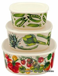 Emma Bridgewater. Melamine  set/3 containers Vegetable Garden