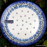 Bunzlau Castle, bord, Cakedish Royal Blue 1261-1982