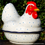Bunzlau Castle kip. chichen shaped baking dish santorini 2343-1087 Little Gem 2343-2330