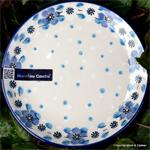 Bunzlau Castle. bord, cakedish small 12,3 cm. Blue White Love 2321-2328