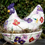 emma bridgewater. hen on nest wallflower