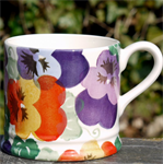Emma Bridgewater. small mug Purple Pansy