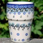 Bunzlau Castle. Milk Mug Royal Blue 1071-1982