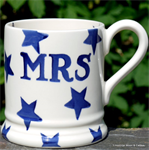 Emma Bridgewater, ½ pint mug Blue Star