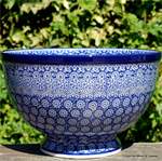 Bunzlau Castle. Bowl on Foot  Lace 2014-884