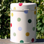 emma bridgewater. tin caddy Polka Dot & Spring Floral