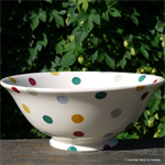 emma bridgewater. serving bowl polka dot
