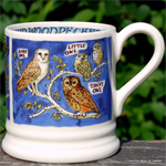 Emma Bridgewater. ½ pint Owls & Woodpeckers