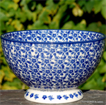 Bunzlau Castle. Bowl on Foot Indigo 1206-2396
