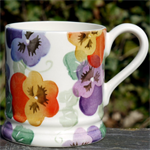 Emma Bridgewater. ½ pint Purple Pansy