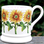 Emma Bridgewater sale. ½ pint mug Sunflower
